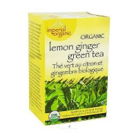 Uncle Lees Tea Imperial Organic Green Tea, Lemon Ginger - 18 Tea Bags