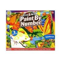 Cra-Z-Art Paint by number rainforest pictures - 1 ea
