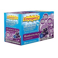 Alacer Emergen C Immune Plus With Vitamin D Packets, Blueberry Acai - 30 ea