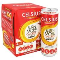 Celsius calorie reducing drink, sparkling cola - 12 oz, 4 ea