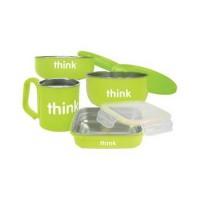 Thinkbaby the complete feeding set bpa free, green - kit