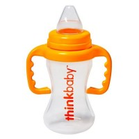 Thinkbaby bpa free no spill sippy cup bpa free, orange - 9 oz