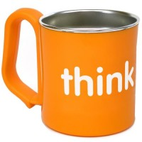 Thinkbaby kids cup bpa free for 6 months, orange - 1 ea