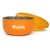 Thinkbaby bpa free ceral bowl orange count - 1 ea