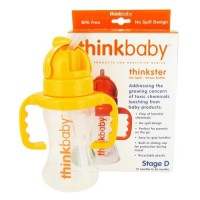 Thinkbaby thinkster stage d no spill straw bottle, bpa free - 9 oz