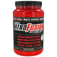 Nitrofusion 100 % natural multi source protein, chocolate - 2 lbs