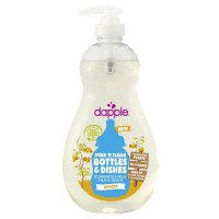 Dapple pure 'n' clean baby bottle and dish liquid, apricot, clear  -   16.9 oz