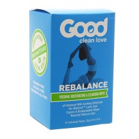 Good Clean Love rebalance personal moisturizing & cleansing wipes - 12 ea