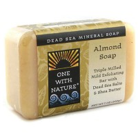 One With Nature dead sea mineral soap, Almond - 7 oz
