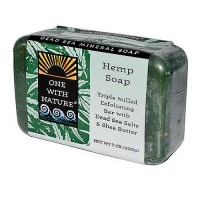 One With Nature dead sea mineral bar soap, Exfoliating Hemp - 7 oz
