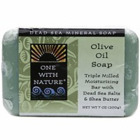 One With Nature dead sea mineral olive oil bar soap - 7 oz