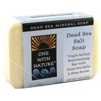 One With Nature rejuvenating dead sea mineral bar soap, Dead Sea Salt - 7 oz