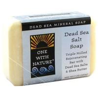 One With Nature rejuvenating dead sea mineral bar soap, Dead Sea Salt - 7 oz