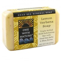 One With Nature Dead Sea Mineral Bar Soap, Lemon Verbena - 7 oz