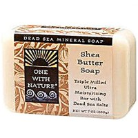 One With Nature dead sea mineral shea butter bar soap - 7 oz