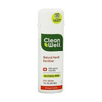 CleanWell All Natural Hand Orange Vanilla Sanitizer, Alcohol Free - 1 oz, 24 pack