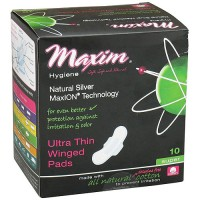 Maxim Hygiene Maxion Natural Ultra Thin Winged Pads, Super - 10 ea