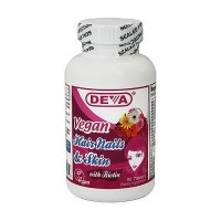 Deva Nutrition Vegan Hair Nails and Skin with Biotin Tablets - 90 ea
