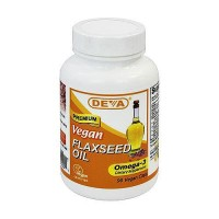 Deva Nutrition Vegan Organic Flaxseed Oil Omega-3 Capsules - 90 ea