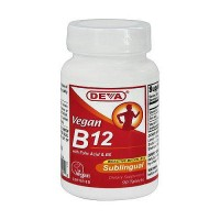 Deva Nutrition Vegan B12 With Folic Acid B6 Sublingual Tablets - 90 ea