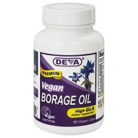 Deva Nutrition Vegan Borage Oil High GLA Vegetarian Capsules - 90 ea