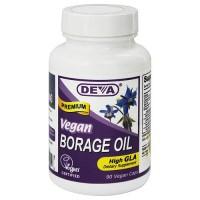 Deva Nutrition Vegan Borage Oil High GLA Vegetarian Capsules - 90 ea