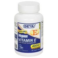 Deva Nutrition Vegan Vitamin E 400 IU Vegetarian Capsules - 90 ea