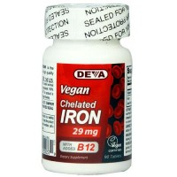 Deva Vegan Chelated Iron 29 mg - 90 ea