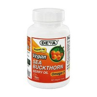 Deva Nutrition Premium Sea Buckthorn Berry Oil Omega-7 Vegan Capsules - 90 ea