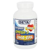 Deva Nutrition Vegan Omega-3 DHA-EPA 300 mg - 90 Veg Softgels