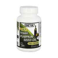 Deva Nutrition Premium Cold pressed Pumpkin Vegan Seed Oil Capsules - 90 ea