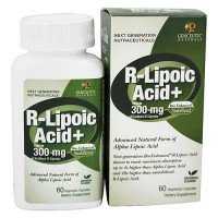 Genceutic Naturals Bio-Enhanced Natural 300 mg R-Lipoic Acid Capsules - 60 ea
