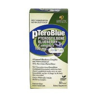 Genceutic Naturals pTeroBlue 100 mg Pterostilbene Blueberry Complex Capsules - 60 ea