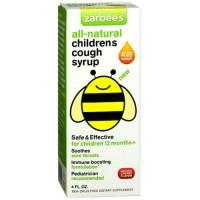 Zarbees all natural childrens cough syrup with cherry flavor, 4 oz