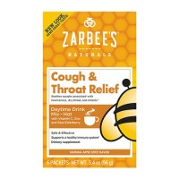 Zarbees all-natural daytime cough and throat relief packets - 6 ea