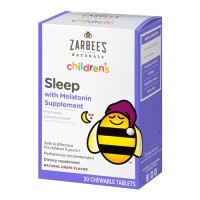 Zarbees naturals childrens sleep with melatonin supplement chewable tablets - 30 ea