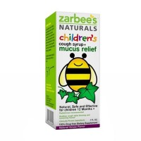 Zarbees childrens mucus relief from cough, natural grape - 4 oz