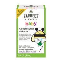 Zarbees naturals baby cough syrup + mucus reducer, grape - 2 oz