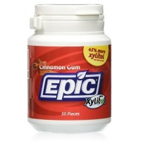 Epic Dental 100% Xylitol Sweetened Cinnamon Gum - 50 ea