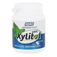 Epic Dental Xylitol Sweetened Peppermint Mint, 180 pieces