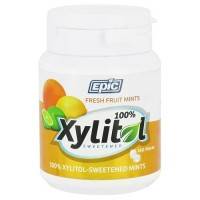 Epic Dental 100% Xylitol Sweetened Mints, Fresh Fruit, 180 pieces