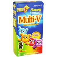 Yum-vs multi-v + multi-mineral formula bears, milk chocolate - 60 ea