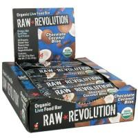 Raw revolution organic live food bar, chocolate coconut bliss - 1.8 oz, 12 pack