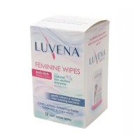 Luvena anti-itch medicated feminine wipes - 12 ea