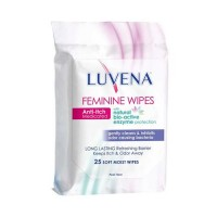 Luvena Anti-Itch Medicated Feminine Wipes, Resealable Pack - 25 ea