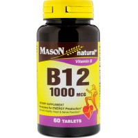 Mason natural vitamin B-12 1000 mcg tablets - 60 ea