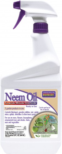 Bonide Products Inc P neem oil fungicide miticide insecticide rtu - 1 quart, 12 ea