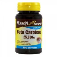 Mason Naturals Beta Carotene 25,000 Iu Softgels - 100 Ea