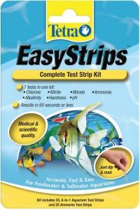 Tetra easystrips complete aquarium water test strips kit - 25 pack, 6 ea