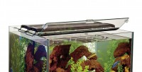 Perfecto glass canopy for cube aquariums w/clips hinged - 18x18 inch, 1 ea